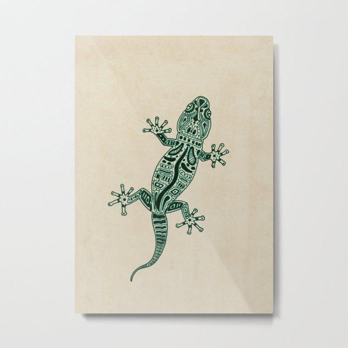 Ornate Lizard Metal Print