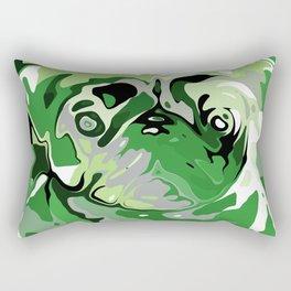 Aromantic Pride Painted Pug Portrait Rectangular Pillow