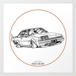 Crazy Car Art 0220 Art Print