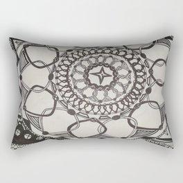 Black and White Medallions Rectangular Pillow