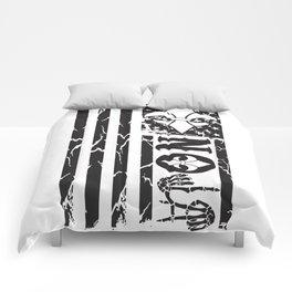 NOLA FLAG BLACK Comforters