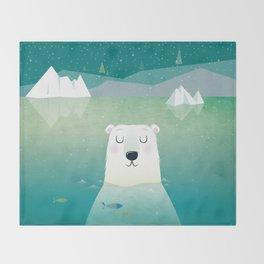 Happy Polar Bear Throw Blanket