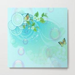 Contemporary Butterflies Metal Print
