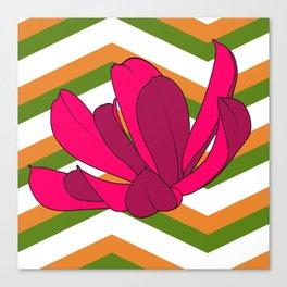 Chevron & Flower #1 Canvas Print