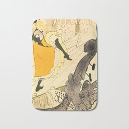 """Henri de Toulouse-Lautrec """"Jane Avril"""" Bath Mat"""