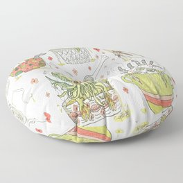 what's in your noodle soup? Floor Pillow