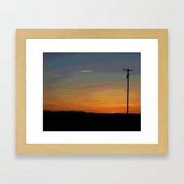 Rainbow Sunset Framed Art Print