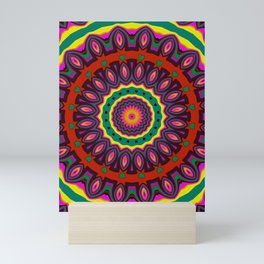 #kaleidoscope #mandala #ornament #3 Mini Art Print