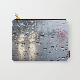 The headlights through wet glass. Carry-All Pouch