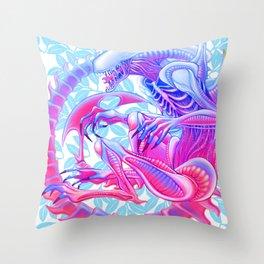 Xenomorph Throw Pillow