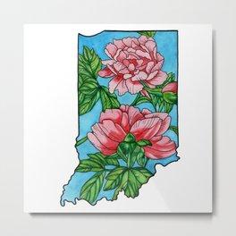 Indiana Flower Metal Print