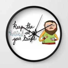 Weird Beard Wall Clock