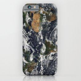 Map of Earth iPhone Case