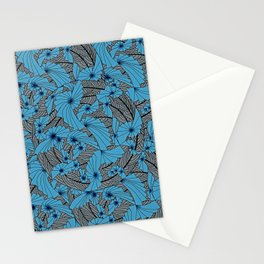 Mandala Blue Grey Abstract Stationery Cards