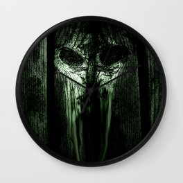 The Evil Woodboard  Wall Clock