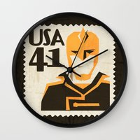 superheros Wall Clocks featuring The Ray by Teighe Armour Thorsen