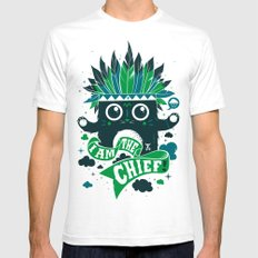 I am the chief! White SMALL Mens Fitted Tee
