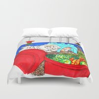 guinea pig Duvet Covers featuring Guinea Pigs In A Cage by Adamzworld