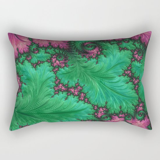 Fern Fractal Rectangular Pillow