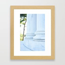 Jefferson Columns Framed Art Print
