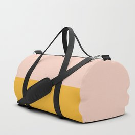 Millennial Pink and Mustard Yellow Minimalist Color Block Duffle Bag