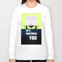 jojo Long Sleeve T-shirts featuring Mojo Jojo Propaganda  by ArielPerrenot