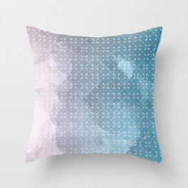 Geometric Aquarelle Throw Pillow