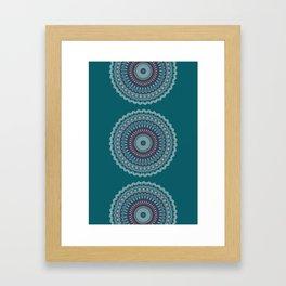 Turquoise Teal Magical Mandala Framed Art Print