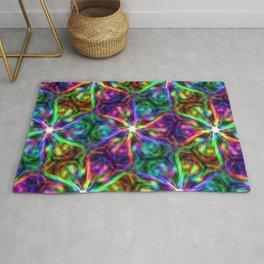 Psychedelic Mandala ornaments hand drawn nature digital abstract Rug