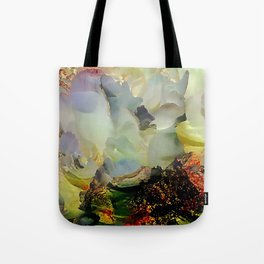 Peony foam inside exploded with joy Tote Bag
