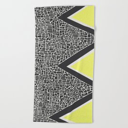 Abstract Mountain Range Beach Towel