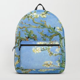Van Gogh Almond Blossoms, Light Blue Backpack