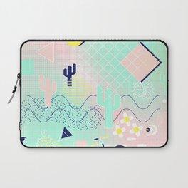 Summer cactus geometric Memphis inspired pattern Laptop Sleeve