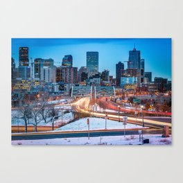 Snowy Speer Canvas Print