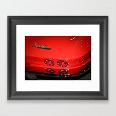 Red Corvette Sting Ray Car Framed Art Print