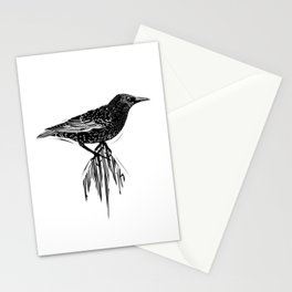 Linocut Starling Stationery Cards