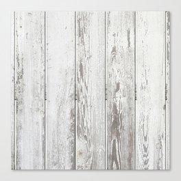 Wood Slatted plank fence background Canvas Print