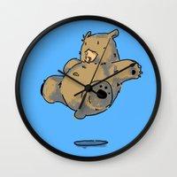 bruno mars Wall Clocks featuring Bruno by Mirko Oni Figoli