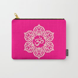 Pink Lotus Flower Yoga Om Carry-All Pouch