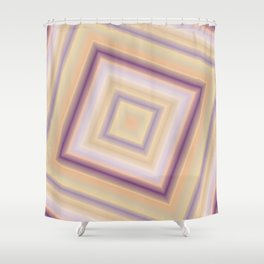 rotated square caro in pastel colors Shower Curtain