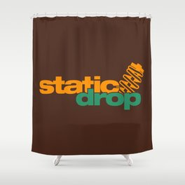 Static drop v6 HQvector Shower Curtain
