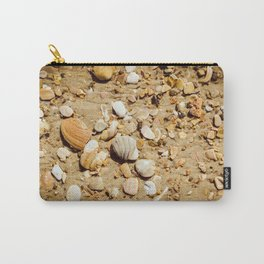 Broken Seashells and Sand Coastal / Nature Photograph Carry-All Pouch