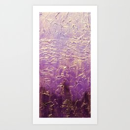 Purple Abstract art Art Print