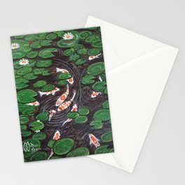 Koi Pond and Water Garden  Stationery Cards