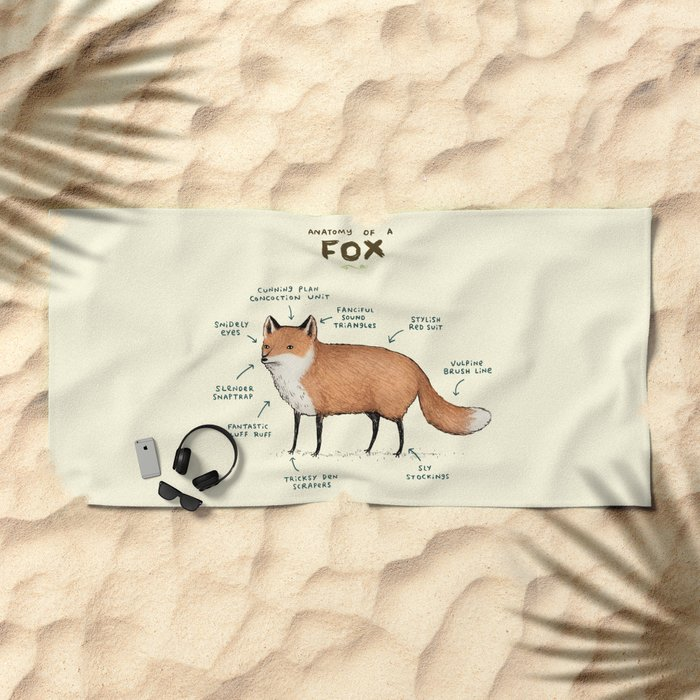 Anatomy of a Fox Beach Towel