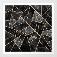 Black Stone 2 Art Print