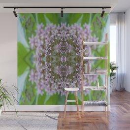 Kaleidoscope Pink Milkweed Flower Macro Photograph Wall Mural
