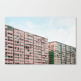 Crowded apartment Canvas Print