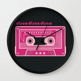 Purple Disco Music Tape Wall Clock
