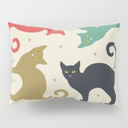 Cats and Cream Pillow Sham